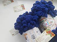 Турецкая фантазийная пряжа Puffy Alize темно синего цвета 360
