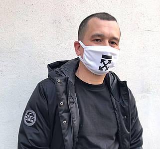 Маски ОПТ - Многоразовая защитная маска с нанесением Off-White, Likee, TikTok