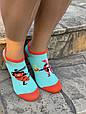Женские носки стрейчевые Montebello разный принт на правой и левой ноге 35-40 12 шт в уп микс 3 цветов, фото 5