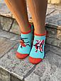 Женские носки стрейчевые Montebello разный принт на правой и левой ноге 35-40 12 шт в уп микс 3 цветов, фото 7