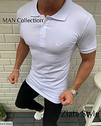 Мужская футболка поло стильная белого цвета Новинка 2020 есть другие цвета