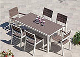 Комплект садових меблів зі штучного ротангу FLORENCE 6+1 капучіно ( Keter ), фото 10