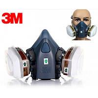 Респиратор полумаска 3М 7502+фильтры+предфильтры 3М+держатели,полумаска 3М 7502 в комплекте
