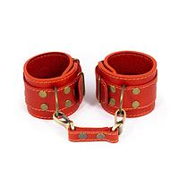 Премиум наручники LOVECRAFT красные, натуральная кожа, в подарочной упаковке, фото 1