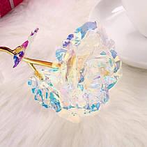 Светящаяся Роза, 24 K покрытая фольгой, Розовая / XY19-52, фото 2