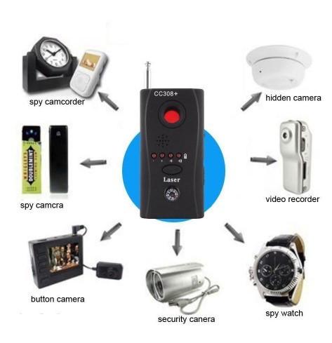 Анти-шпион сканер жучков и камер, универсальный широкополосный детектор