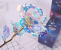 Светящаяся Роза, 24 K покрытая фольгой, Розовая / XY19-52, фото 3