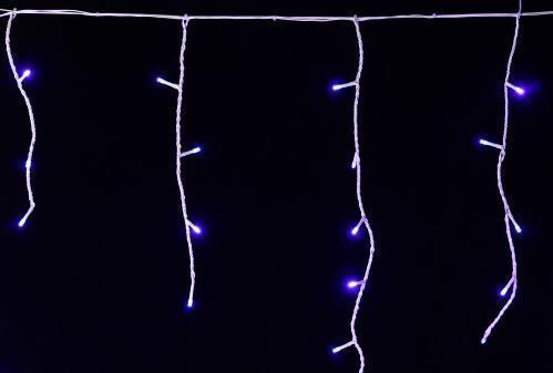 Гирлянда бахрома уличная 3*0,5 провод чорный свет синий возможность последовательного подключения через разьем