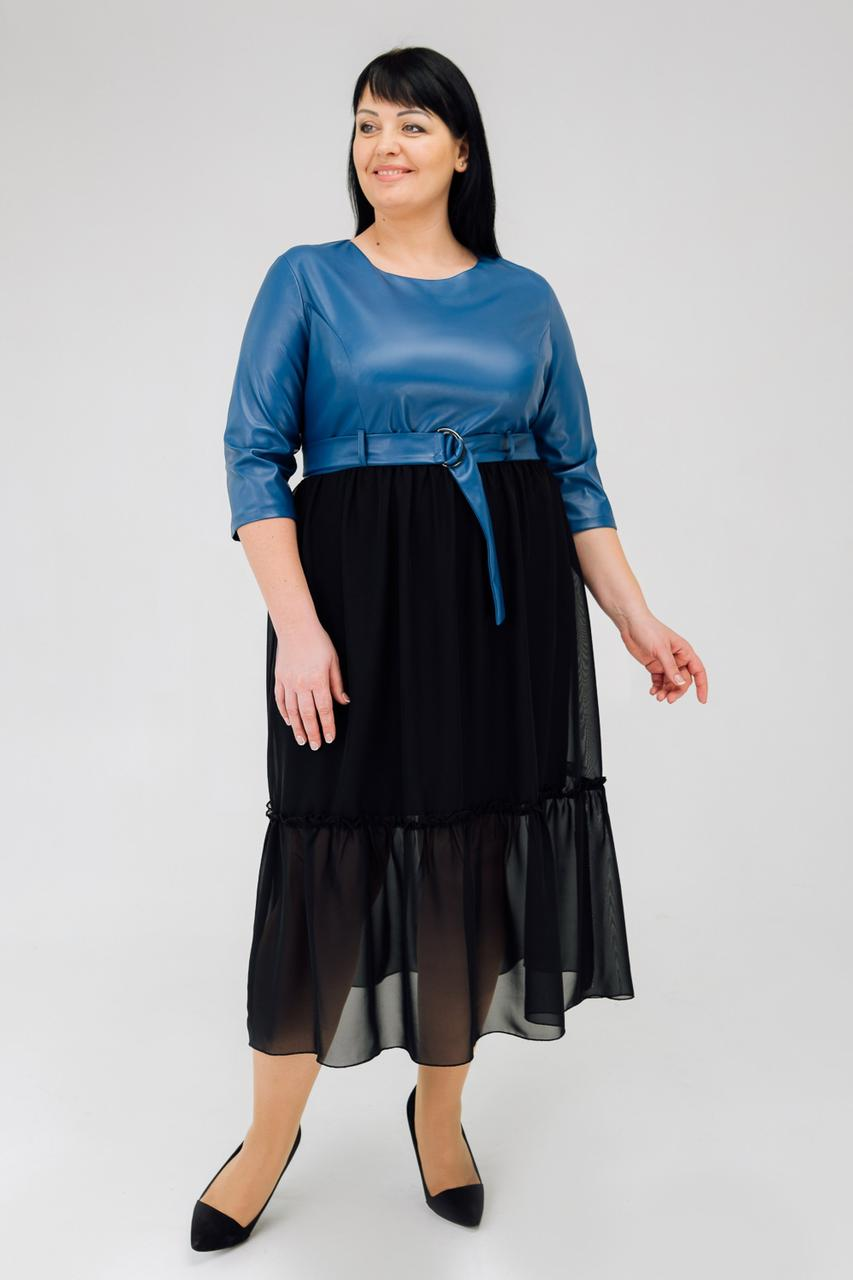 Красивое платье с поясом по талии  .Разные  цвета.