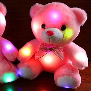 Світиться ведмедик, 22 див. м'який плюшевий ведмедик для подарунка рожевий