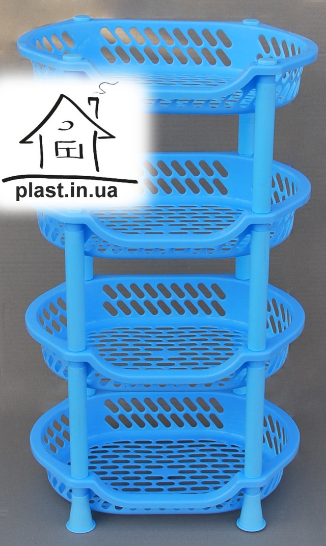 пластикова етажерка овальна Efe plastics