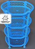 Етажерка пластикова овальна (блакитна), фото 3