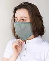 Медицинская многоразовая двухслойная маска оливковая