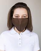 Медична багаторазова двошарова маска коричнева
