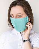 Медична багаторазова двошарова маска м'ята