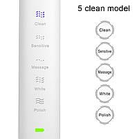 Sarmocare S100 Sonic Electric Toothbrush White Звуковая электрическая зубная щетка, фото 2