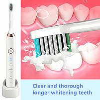 Sarmocare S100 Sonic Electric Toothbrush White Звуковая электрическая зубная щетка, фото 7
