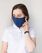 Медична багаторазова двошарова маска синя