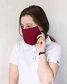 Медична багаторазова двошарова маска марсала