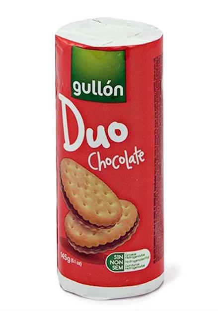 Печиво GULLON Duo, сендвіч з шоколадним кремом, 145г