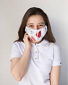 Медицинская многоразовая двухслойная маска принт губки