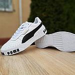Женские кожаные кроссовки Puma Cali Bold (бело-черные) 20010, фото 4