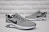 Чоловічі сірі кросівки сітка в стилі Nike Free Run, фото 5