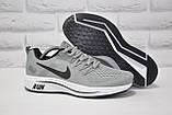 Чоловічі сірі кросівки сітка в стилі Nike Free Run, фото 2