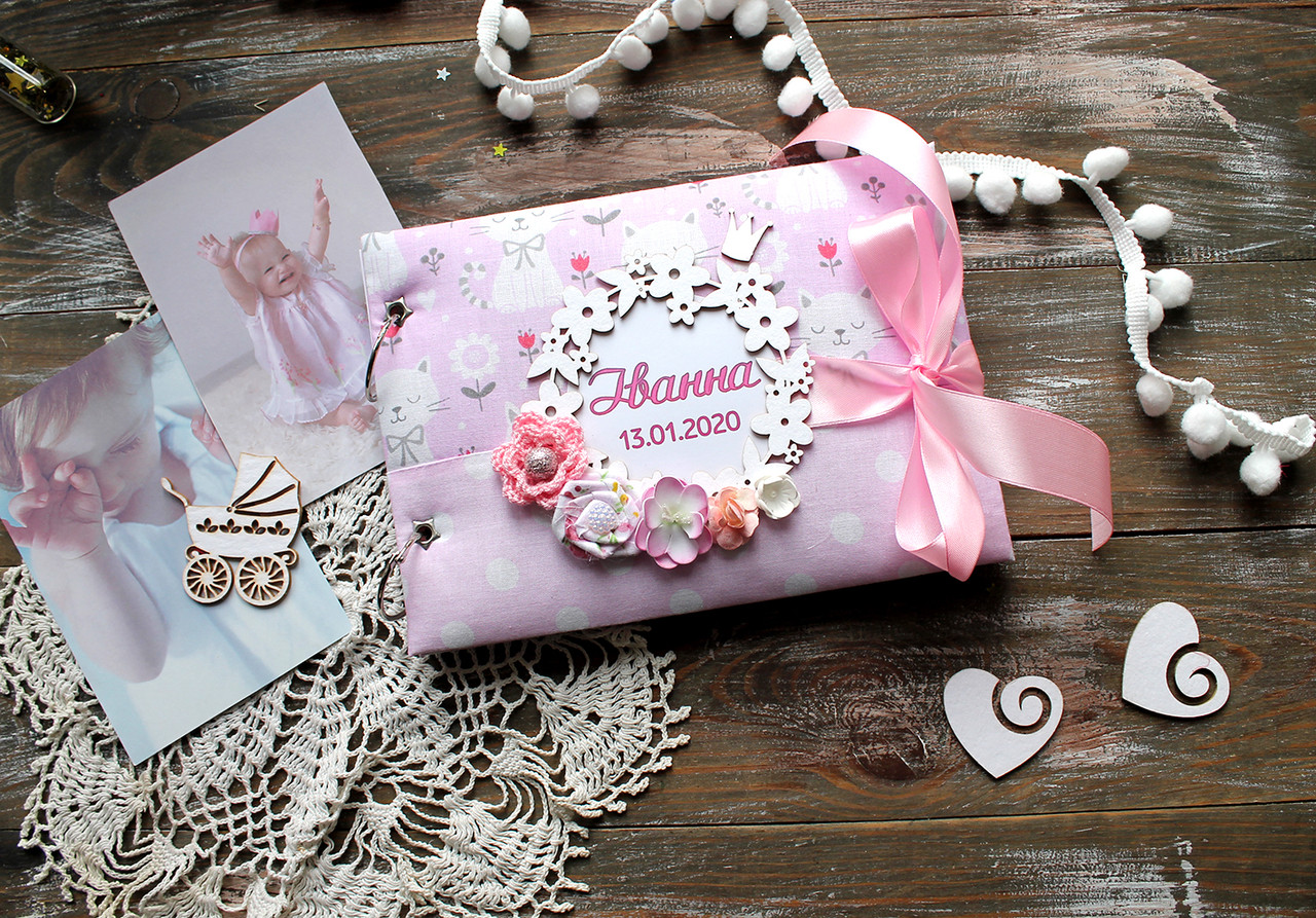 Книга пожеланий для девочки (конверт для локона)