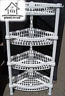 Этажерка угловая Efe plastics на 4 яруса (белая)
