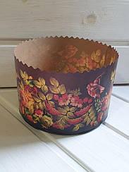 Бумажная форма для выпечки пасхи, d - 150 итальянская коричневая бумага