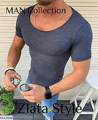 Мужская футболка стильная серого цвета Новинка 2020 есть другие цвета