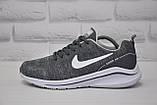 Чоловічі літні кросівки сітка сірі в стилі Nike Air Zoom, фото 2