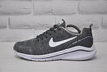 Мужские летние кроссовки сетка серые в стиле Nike Air Zoom, фото 2