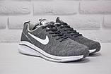 Чоловічі літні кросівки сітка сірі в стилі Nike Air Zoom, фото 3