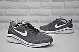 Чоловічі літні кросівки сітка сірі в стилі Nike Air Zoom, фото 5