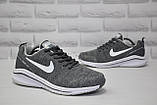 Мужские летние кроссовки сетка серые в стиле Nike Air Zoom, фото 5