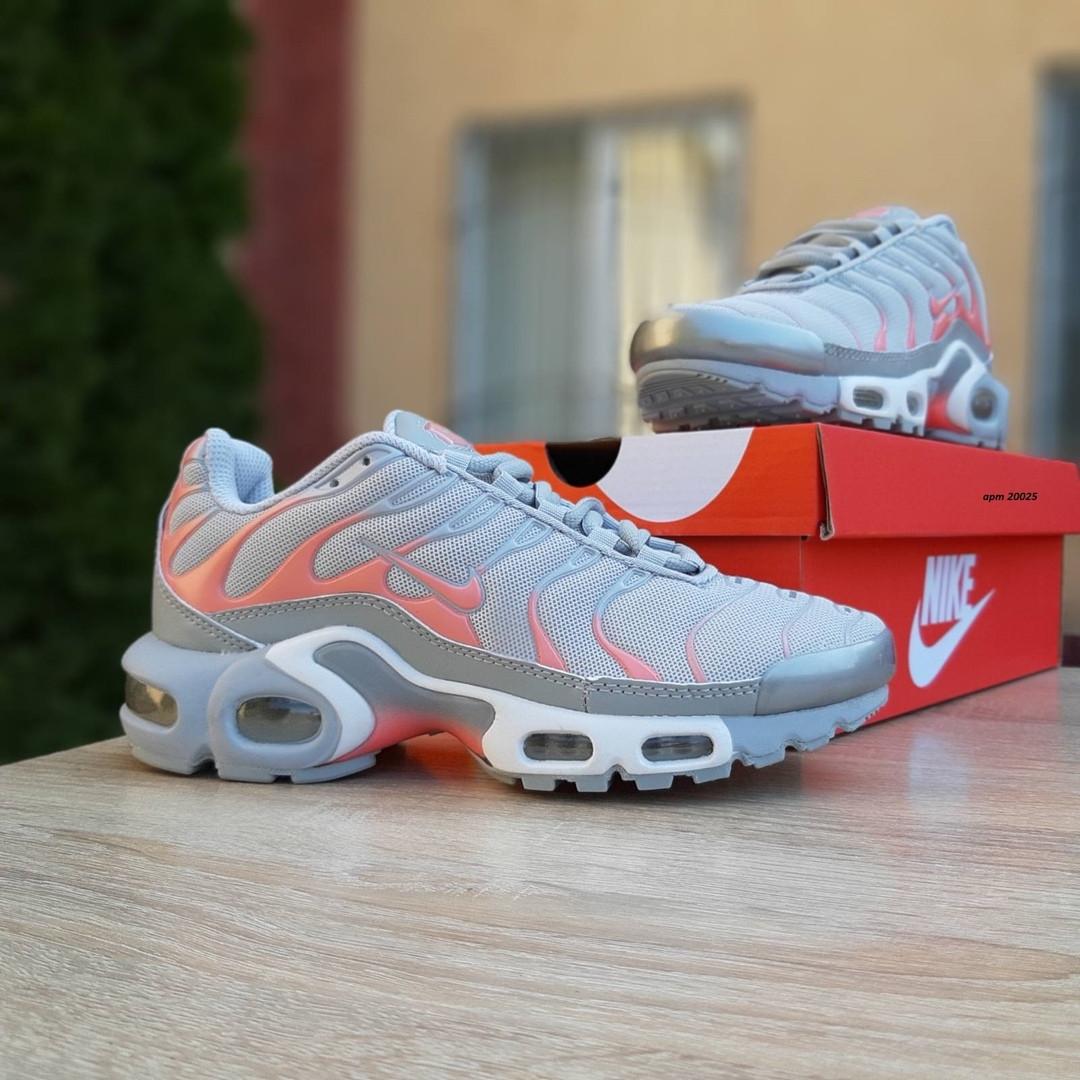 Женские кроссовки Nike TN Plus РЕФЛЕКТИВ (серые) 20025