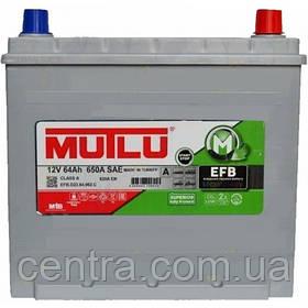 Автомобильный аккумулятор MUTLU 6СТ-64 EFB.D23.64.062.C ASIA