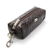 Чехол для ключей ключница на змейке с карабином коричневая Desisan 207-19, фото 1