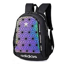 Спортивний рюкзак Adidas XENO Reflectiv (чорний) - РЕФЛЕКТИВ #Adidas
