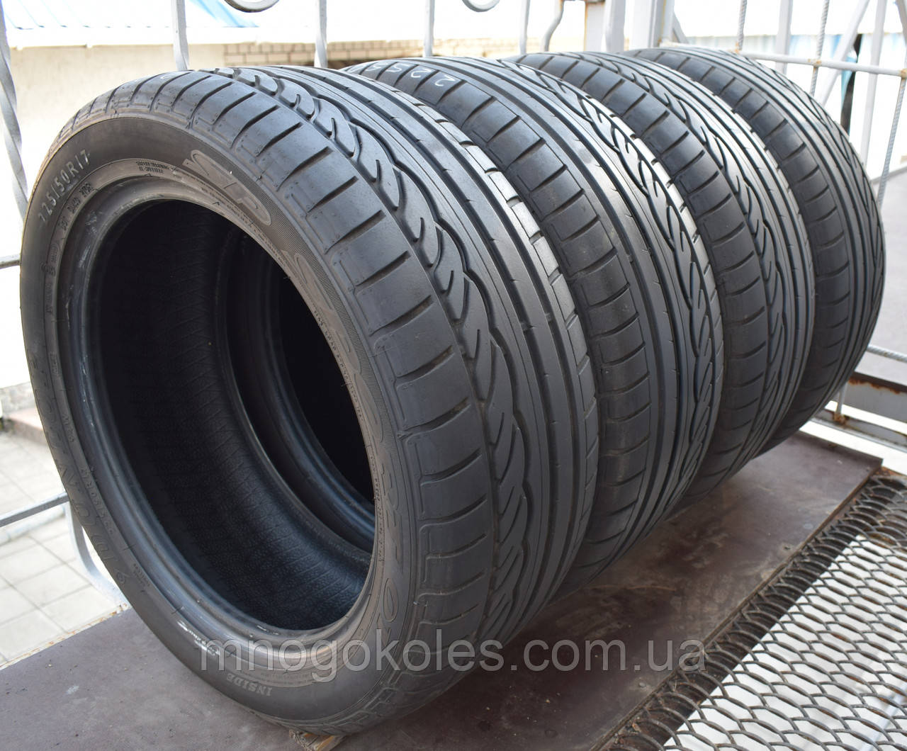 Шины б/у 225/50 R17 Dunlop SP Sport 01, ЛЕТО, 5+ мм, пара/комплект