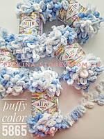 Турецкая фантазийная пряжа Puffy color 5865