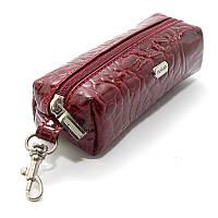 Чехол для ключей ключница на змейке с карабином красная Desisan 207-18