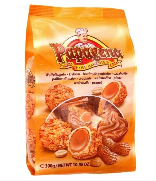 Вафельні кульки PAPAGENA, з арахісом, 300г