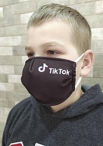 Маска защитная тканевая многоразовая многослойная Tik Tok