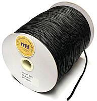 Шнур круглый 4мм Черный одежный 150м