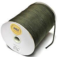 Шнур круглый 4мм Хаки одежный 150м