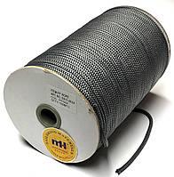 Шнур круглый 4мм Темно серый одежный 150м