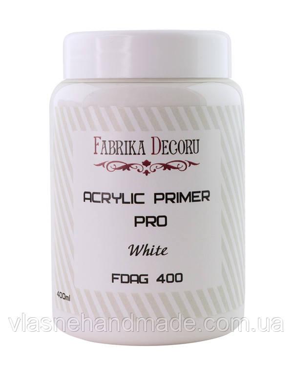 Грунт акриловий універсальний - білий - Fabrika Decoru - 400 мл.